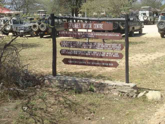 SSerengeti Visitor Center sign